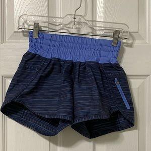 Lululemon women's shorts, blue, size 2